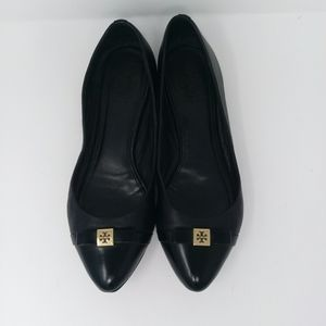 Tory Burch Hugo Ballet Leather Flats Sz7